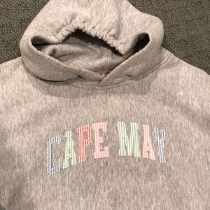 Cape May hoodie grey hooded sweatshirt